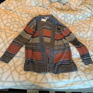 NEW MAURICES STRIPED OPEN FRONT CARDIGAN SWEATER